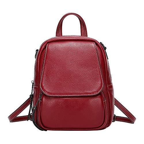 Ladies Top Grain - ALTOSY Mini backpack Fashion Leather Daypack for Women Cute Shoulder Rucksack for Girls (S54, Burgundy)