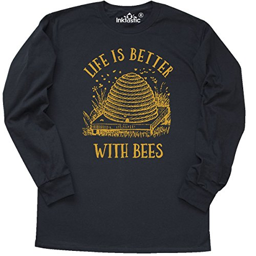 inktastic Life's Better With Bees Long Sleeve T-Shirt Small - Apparel Save Bees The