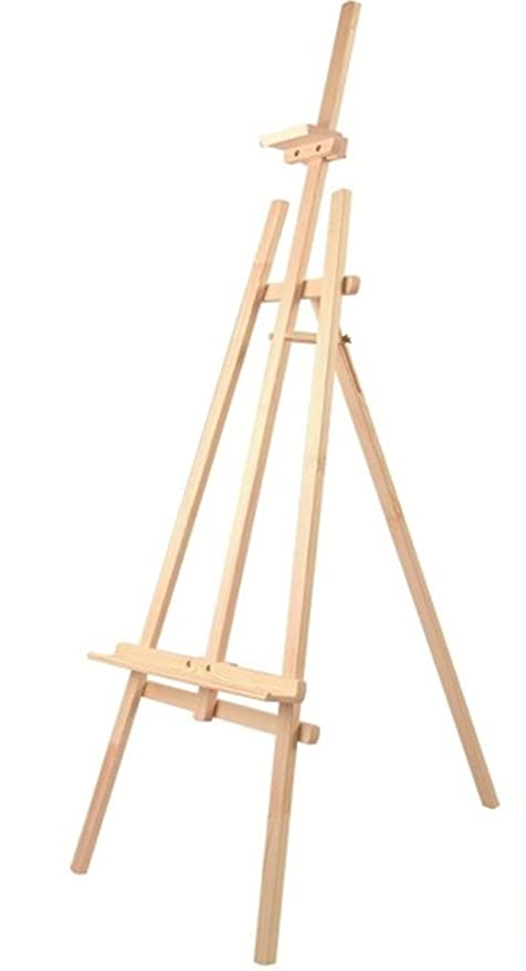Caballete de Madera de Pino Color Natural para Pintar o Soporte de Carteles en Todo Tipo de Eventos, Transportable Ligero y Estable (Natural, 170 cm)