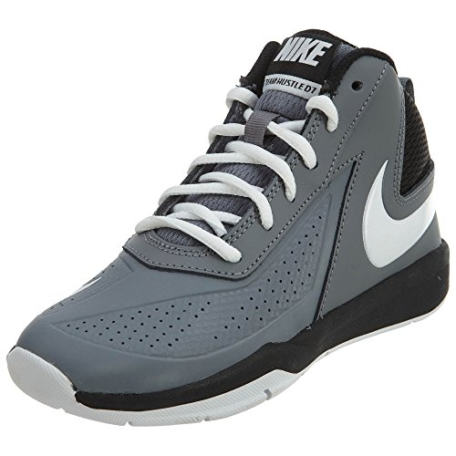 Nike Boy's Team Hustle D 7 Basketball Shoe (PS) Cool Grey/White-Black 2Y