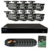 GW Security 1080P HD-CVI 8 Channel Video Security Camera System – Eight 2MP Weatherproof 2.8-12mm Varifocal Zoom Bullet Camera, 72-IR LED 196ft Night Vision, Long Transmit Range, Pre-Installed 3TB HDD For Sale
