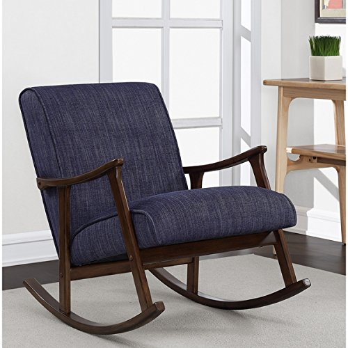 (Retro Indigo Wooden Rocker)