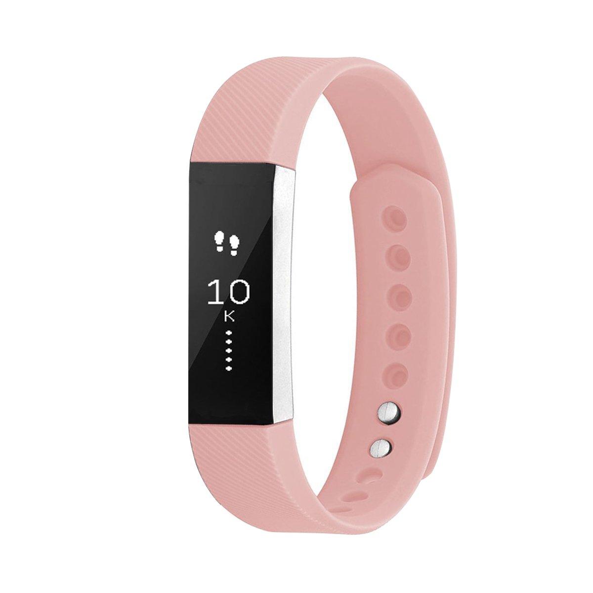 Fitbit ALTA HRバンド/AltaバンドWZE快適通気性ソフトシリコンカラースポーツアクセサリー用交換リストバンドfitbitalta複数の穴とFitbit ALTA HR 2 B071XQB63S ピンク Large Size