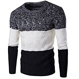 Zicac Mens Casual Twisted Knitted Turtleneck Slim Fit Pullover Thermal Sweaters