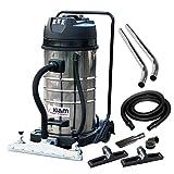 Kiam Workshop Warehouse Vac KV100-3F Triple Motor Industrial Wet & Dry Vacuum Cleaner with Front Mounted Squeegee - 3600W
