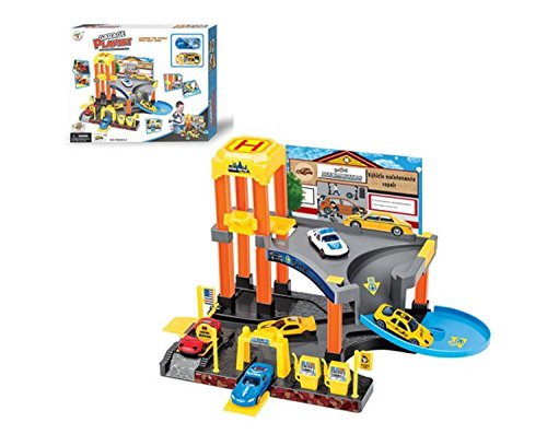 - LilPals Deluxe Garage Play Set - Multi-Piece Children's Toy Set - Variety of Cars, Fuel Pumps, Lift, Elevator, Etc. - Makes Great Gift!!
