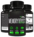 Echo Vitamins Memory Boosting Brain Supplement for Focus, Energy, Memory- Mental Performance Formulated Brain Booster with Super Ginkgo Biloba 30 Capsules