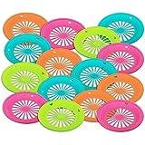 "Trenton Gifts Reusable Paper Plate Holders | Set of 12 | 10"" Diameter | Neon Colors"