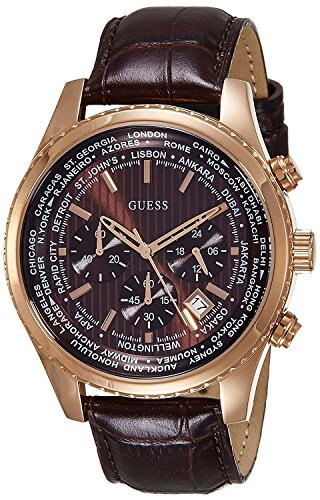 Guess-Leather-Chronograph-Mens-Watch-W0500G3