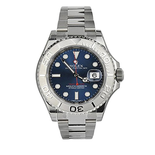 Rolex Yatch-Master Blue Dial Platinum and Steel MensWatch 116622