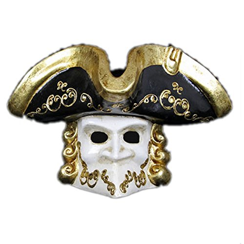 Eyes Wide Shut Party Costumes (VIVO Masks Mens Eyes Wide Shut Pirate 'Casanova' Venetian Masquerade Mask)