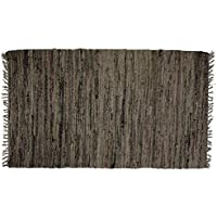 Sturbridge Country Rag Rug in Tobacco 24 x 72