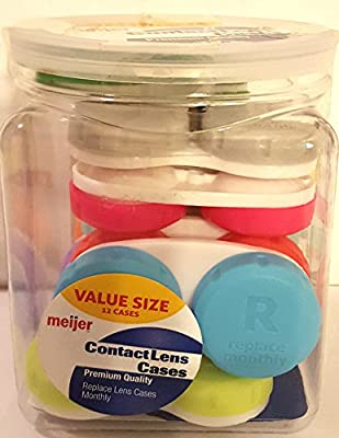 New Meijer Contact Lens Cases Value Pack 12 Count by Meijer