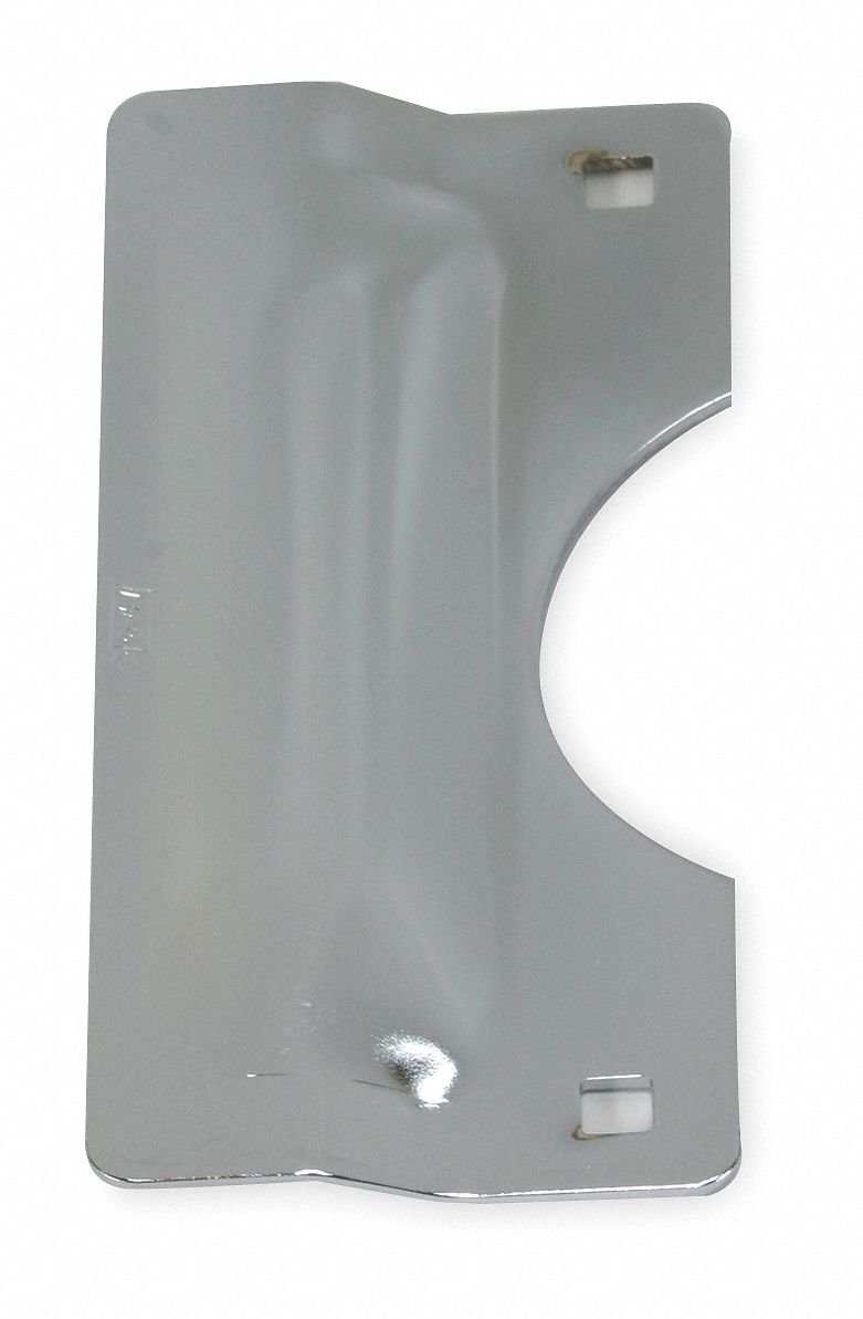 Chrome Heavy Duty Latch Guard, Out Opening Doors, Length 7'', Width 3'' by GRAINGER APPROVED