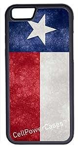 iPhone 6 Plus Case, CellPowerCasesTM Texas Flag [Flex Series] -iPhone 6 Plus (5.5) Black Case [iPhone 6 (5.5) V1 Black]