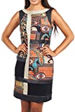 Joseph Ribkoff Black & Paisley Print Sleevelss Shift Dress Style 163685 - Size 16