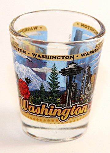 Around Glass (Washington State Wraparound Shot Glass)