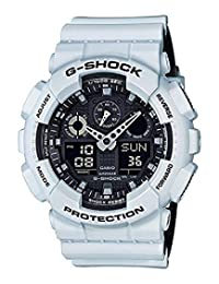 Casio Men's G-Shock GA100L-7A White Silicone Japanese Quartz Sport Watch