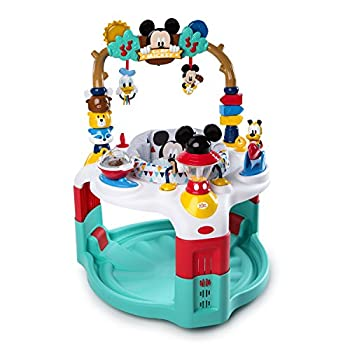 Image of Bright Starts Disney Baby Mickey Mouse Camping with Friends Activity Saucer with Lights and Melodies, Ages 6 months + Baby