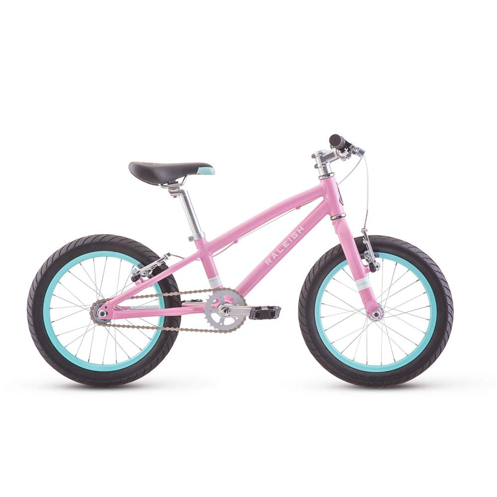 RALEIGH Bikes Lily 16 Kids Mountain Bike for Girls Youth 3-6 Years Old, Pink
