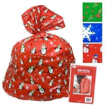 giant 36x44 christmas gift bag sack pack of 3 assorted - Amazon Christmas Gifts