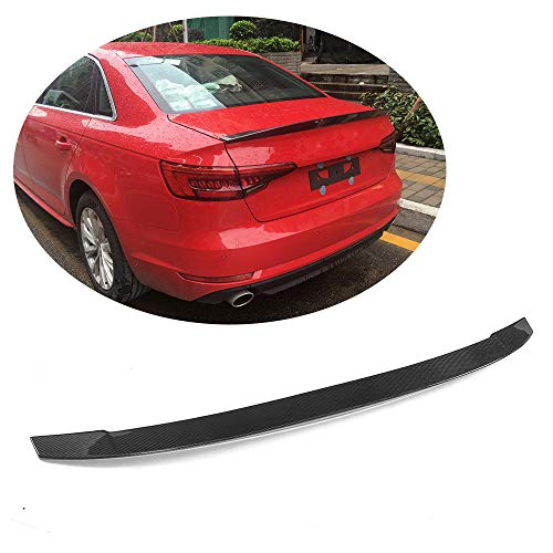 MCARCAR KIT Trunk Spoiler fits Audi A4 B9 Sline S4 2017 2018 Pure Carbon Fiber Top Fit Rear Trunk Tail Lip Deck Boot High End Wing