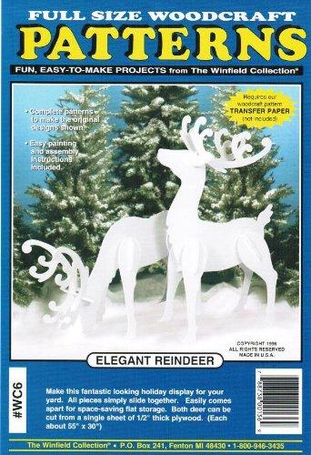 Amazon Large Elegant Reindeer Woodcraft Pattern Arts Crafts Custom Woodcraft Patterns