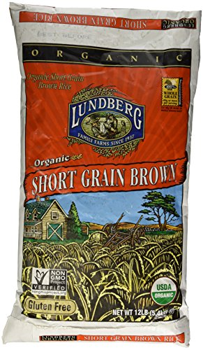 Lundberg Farms USDA ORGANIC Short Brown Rice Gluten Free 12 LB ()