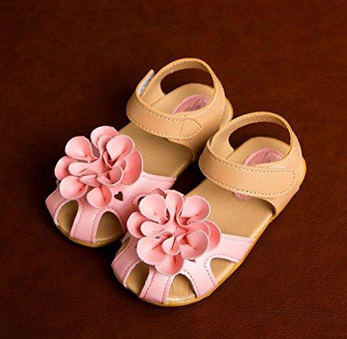 Zapatos de bebé,Tongshi Zapatos Verano Sandalias Skidproof Niño Zapatos De Las Flores Rosa