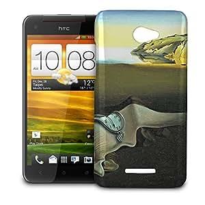 Phone Case For HTC Butterfly (X920E) - Melting Clocks Salvador Dali Fine Art Snap-On Slim