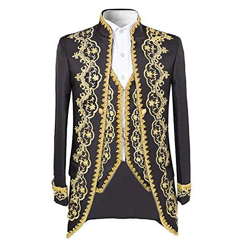 Men's luxury Casual Dress Suit Slim Fit Stylish Blazer Coats Jackets & Vest & (Dress Suit Jacket Coat)