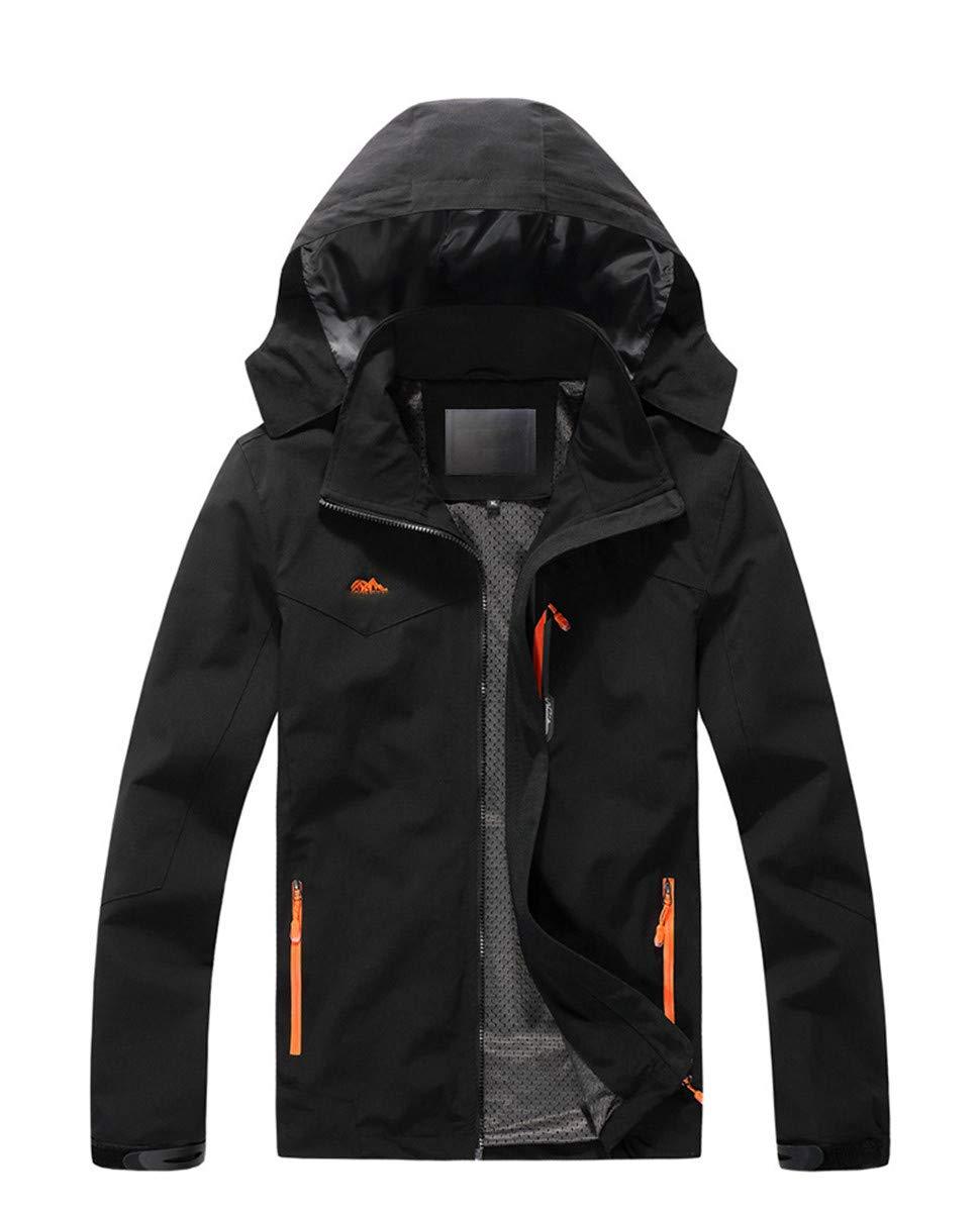 Noir 6XL CWXDIAN Veste à Double Couche, Plus Une Couche de Graisse pour Hommes avec vêteHommests d'extérieur, Veste Noire, XL