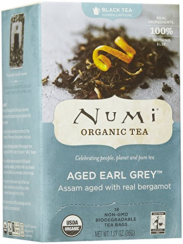 Numi Organic Tea Aged Earl Grey Black Tea, 18 ct