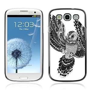 YOYOSHOP [Beautiful Japanese Tattoo Owl] Samsung Galaxy S3 Case by Maris's Diary