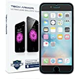 """Tech Armor iPhone 6 & iPhone 6S (4.7"""") Ballistic Glass Screen Protector - 99.99% Clarity and Touch Accuracy"""