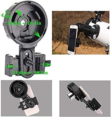 Universal Connection CompraJunta Mount Universal Phone for Mini-Monocular with 17mm Eyepiece Diameter Suction Cup Holder
