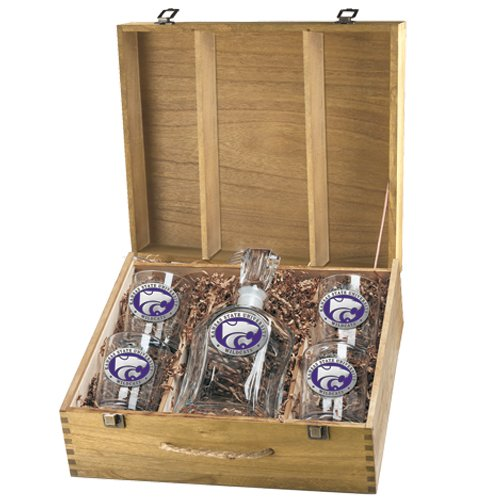 Kansas State University ''Wildcats'' Color Spirits Set w/ Box by Heritage Pewter