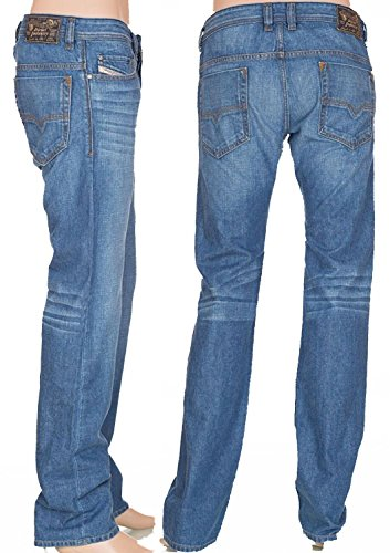 Diesel Safado Triouser Straight Blue Jeans (36 Long ()