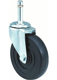 3-1//8 Plate Width 3 Wheel Dia 13//16 Wheel Width 3-7//8 Mount Height 3 Wheel Dia 350 lbs Capacity Hard Rubber Wheel Wagner Plate Caster Swivel with Pinch Brake 13//16 Wheel Width Delrin Bearing 4-1//8 Plate Length E.R 3-7//8 Mount Height