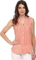 C&C California Women's Hi Low Crinkle Shirt