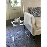 Acrylic End Table 17 inches high x 17 wide, x 12 deep x 3/8 thick material
