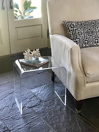 Acrylic End Table 17 inches high x 17 wide, x 12 deep x 3/8