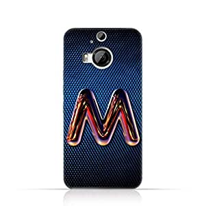 Htc M9 Plus Silicone Case with Chrome Night Letter M Design
