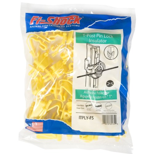 (Fi-Shock ITPLY-FS Pin-Lock T-Post Insulator, Yellow)