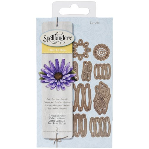 Spellbinders S2-063 Shapeabilities Create an Aster Etched/Wafer Thin Dies Aster Single Cards