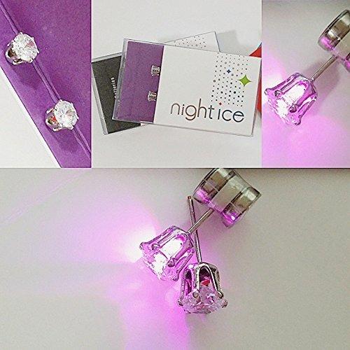 Original Night Ice LED Earrings (Purple) by Night Ice ® (Image #2)
