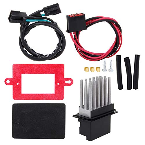 LUJUNTEC HVAC Heater Blower Motor Resistor with Harness Fan Resistor Replace RU-358A Fit for 1999 2000 2001 2002 2003 2004 Jeep Grand Cherokee