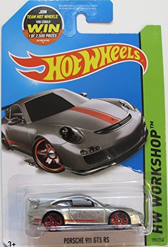 Hot Wheels, 2015 HW Workshop, Porsche 911 GT3 RS Exclusive ZAMAC -