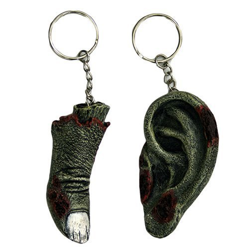 Pacific Giftware Zombie Remains Finger & Ear Key Chains M...