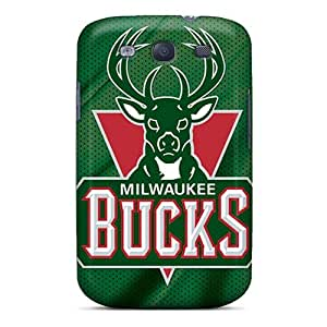 Faddish Phone Milwaukee Bucks Case For Galaxy S3 / Perfect Case Cover